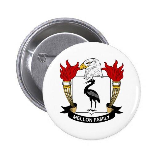 Mellon Family Crest Button