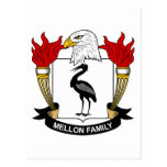 Mellon Family Crest Postcard