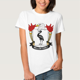 Mellon Family Crest Tshirts