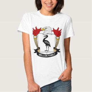 Mellon Family Crest Tshirts