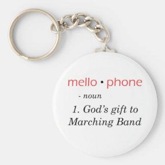 Mellophone - el regalo de dios a congregar llavero redondo tipo pin