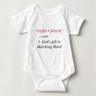 Mellophone - God's Gift to Band Baby Bodysuit