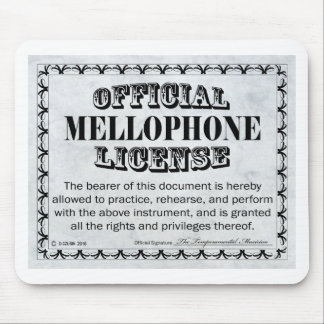 Mellophone License Mouse Pad