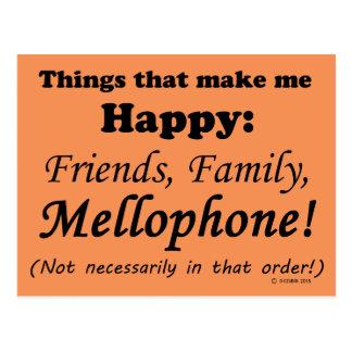 Mellophone Makes Me Happy Postcard