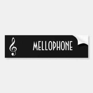 Mellophone Music Bumper Sticker Gift