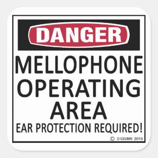 Mellophone Operating Area Square Sticker