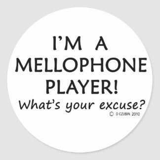 Mellophone Player Excuse Classic Round Sticker