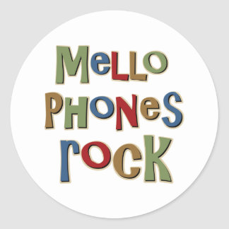 Mellophones Rock Classic Round Sticker