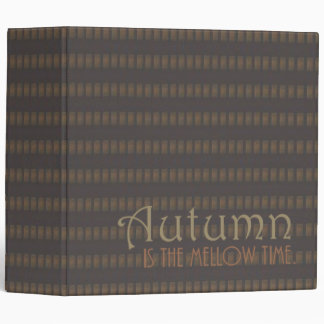Mellow Autumn Quote 3-ring Binder
