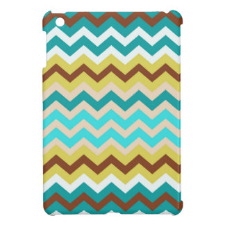 Mellow Blue and Yellow Zigzags iPad Mini Cases