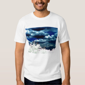 Mellow Blue Cumulus humilis and Bright Trees by KL T Shirt
