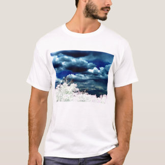 Mellow Blue Cumulus humilis and Bright Trees by KL T-Shirt