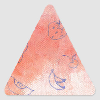 mellow meadow triangle sticker