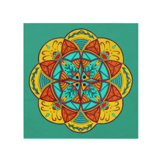 Mellow Mood Mandala Drawing Wall Art
