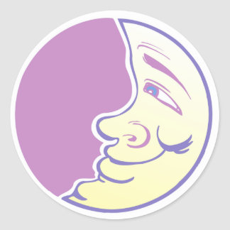 Mellow Moon Classic Round Sticker