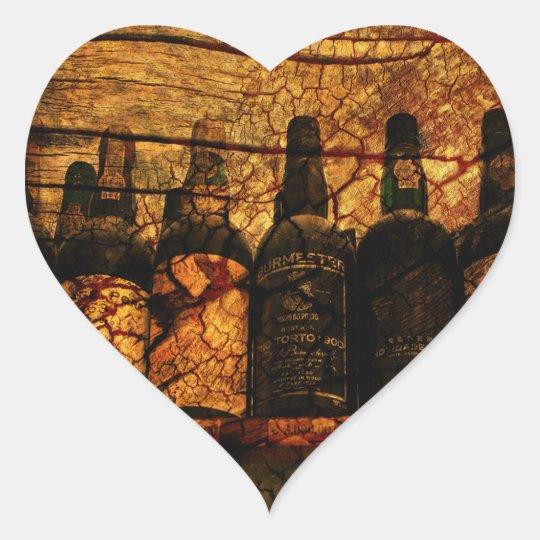 Mellow Oak Heart Sticker