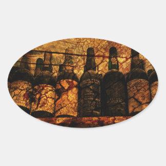 Mellow Oak Oval Sticker