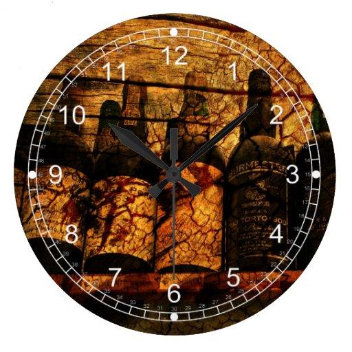 Mellow Oak Round Clocks