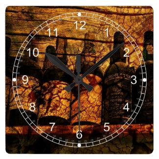 Mellow Oak Square Wall Clocks