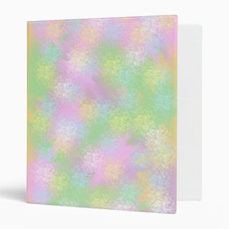 Mellow Outbursts Of Color Abstract Digital Art Binder