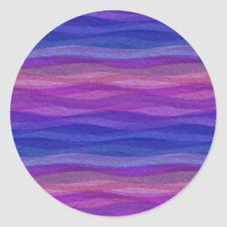 Mellow Waves Classic Round Sticker
