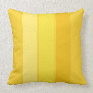 """Mellow Yellow 3 Stripe 20"""" Square Throw Pillow"""
