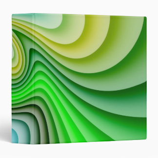 Mellow Yellow and Green Waves Binder