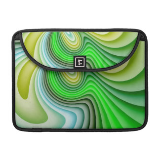 Mellow Yellow and Green Waves MacBook Pro Sleeve