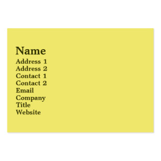 Mellow Yellow Large Business Cards (Pack Of 100)