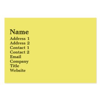 Mellow Yellow Business Card Template