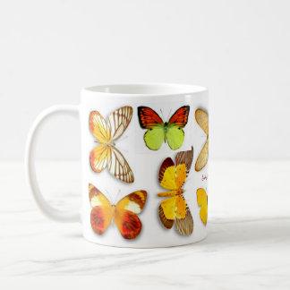 Mellow Yellow Butterflies by S Ambrose Mugs