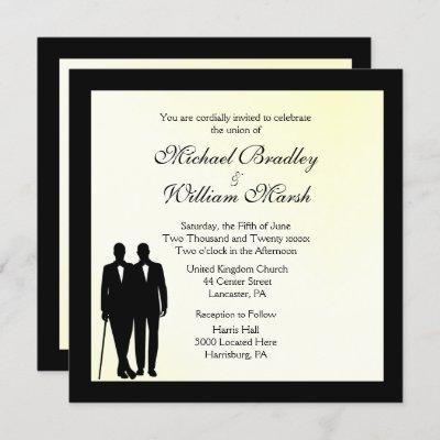 Mellow Yellow Gay Wedding Invitation
