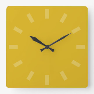 Mellow Yellow Solid Color Wall Clock