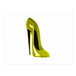Mellow Yellow Stiletto Shoe Postcard