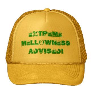 ¡Mellowness extremo aconsejado! Gorras