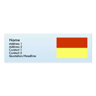 Melnik, Czech Double-Sided Mini Business Cards (Pack Of 20)
