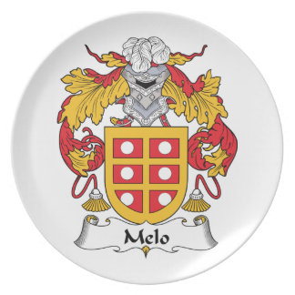 Melo Family Crest Plate