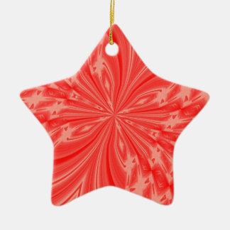 Melocotón abstracto de la mariposa adorno de cerámica en forma de estrella
