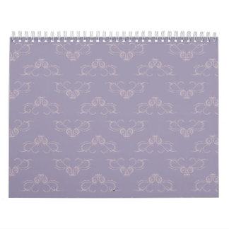 Melocotón adornado de 2 púrpuras calendarios