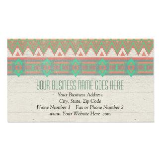 Melocotón/aguamarina en colores pastel nativos tri plantilla de tarjeta de visita