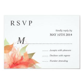 Melocotón anaranjado de lujo de RSVP floral Invitación 8,9 X 12,7 Cm