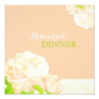 Melocotón, cena bohemia de marfil del ensayo del invitación 13,3 cm x 13,3cm
