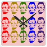 Melocotón colorido del reloj de pared de Abe Linco