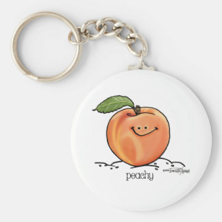 Melocotón con sabor a fruta - dibujo animado llaveros personalizados