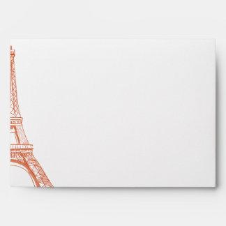 melocotón de París de la opción 4 del sobre 5x7