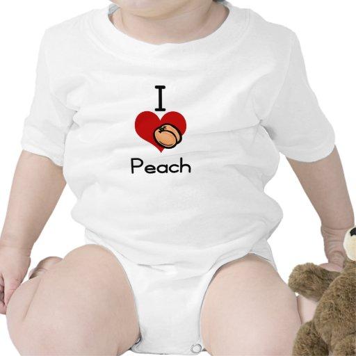 Melocotón del amor-corazón I Traje De Bebé
