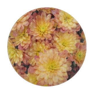Melocotón del grupo de la planta del crisantemo tabla de cortar