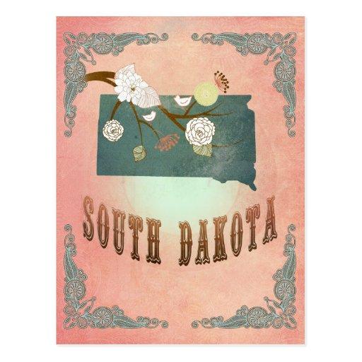 Melocotón del pastel del mapa del estado de Dakota Postal