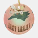 Melocotón del pastel del mapa del estado de ornamento para arbol de navidad