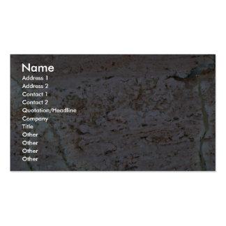 Melocotón dispersado roca sólido tarjetas de visita